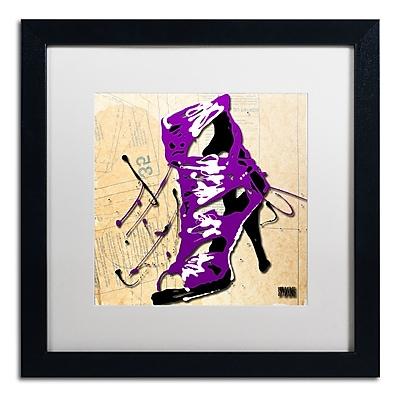 Trademark Fine Art Roderick Stevens 'Purple Strap Boot' 16 x 16 (RS986-B1616MF)