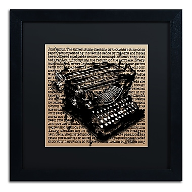 Trademark Fine Art Roderick Stevens 'Three-Quarter Typewriter' 16 x 16 (RS989-B1616BMF)
