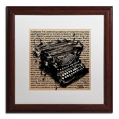 Trademark Fine Art Roderick Stevens 'Three-Quarter Typewriter' 16 x 16 (RS989-W1616MF)