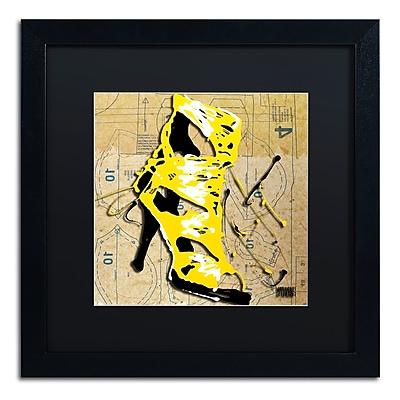 Trademark Fine Art Roderick Stevens 'Yellow Strap Boot' 16 x 16 (RS990-B1616BMF)