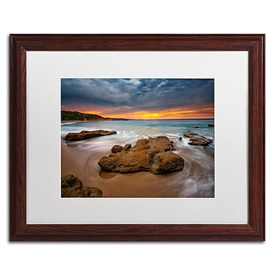 Trademark Fine Art Lincoln Harrison 'Beach at Sunset 5' 16 x 20 (ALI0727-W1620MF)