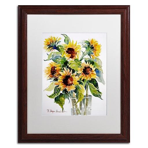 Trademark Fine Art Rita Auerbach 'Sunflowers'  16 x 20 (ALI0738-W1620MF)