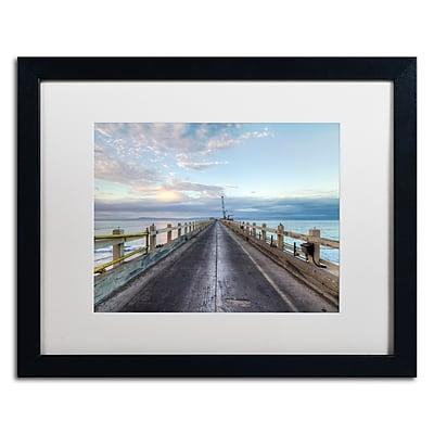Trademark Fine Art Chris Moyer 'Carpinteria Pier View I' 16 x 20 (ALI0771-B1620MF)