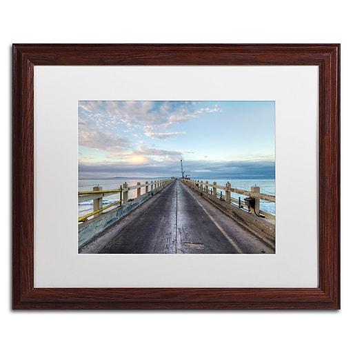 Trademark Fine Art Chris Moyer 'Carpinteria Pier View I'  16 x 20 (ALI0771-W1620MF)