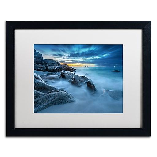 Trademark Fine Art Mathieu Rivrin 'Blue Hour for a Blue Ocean'  16 x 20 (RV0033-B1620MF)