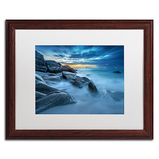 Trademark Fine Art Mathieu Rivrin 'Blue Hour for a Blue Ocean'  16 x 20 (RV0033-W1620MF)