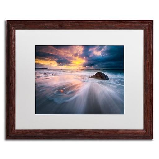 Trademark Fine Art Mathieu Rivrin 'Ocean Painting'  16 x 20 (RV0039-W1620MF)