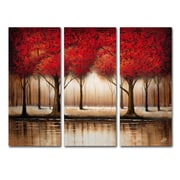 Trademark Fine Art Rio 'Parade of Red Trees' 3 Panel Art Set 32 x 44 (MA0301-SET)