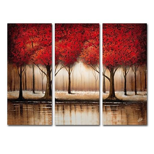 Trademark Fine Art Rio 'Parade of Red Trees' 3 Panel Art Set 32 x 44 (MA0301-SET)