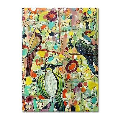 Trademark Fine Art Sylvie Demers 'Assemblace' 18 x 24 (ALI0886-C1824GG)