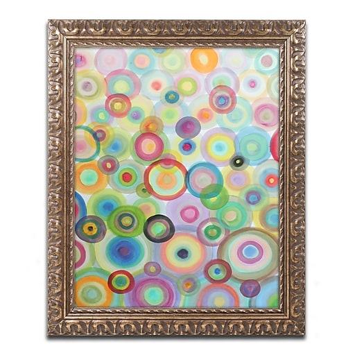 """Trademark Global Sylvie Demers 'Bulles' Ornate Art, 16""""L x 20""""W, Framed (ALI0887-G1620F)"""