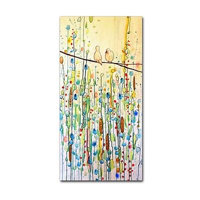Trademark Fine Art Sylvie Demers 'Toi Et Moi' 10 x 19 (ALI0908-C1019GG)