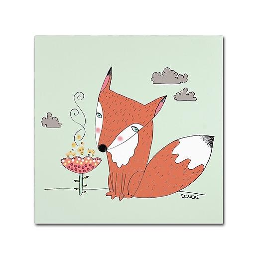 Trademark Fine Art Sylvie Demers 'Un Renard Dans La Cours'  24 x 24 (ALI0915-C2424GG)