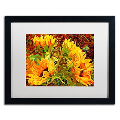 Trademark Fine Art Mandy Budan 'Four Sunflowers' 16 x 20 (ALI0919-B1620MF)