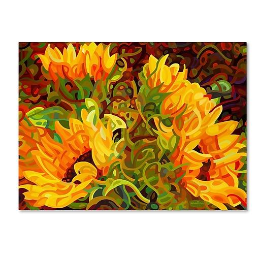 Trademark Fine Art Mandy Budan 'Four Sunflowers'  18 x 24 (ALI0919-C1824GG)