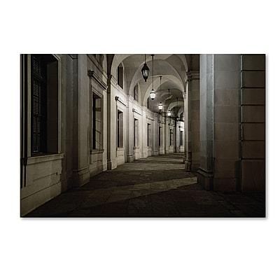 Trademark Fine Art Gregory O'Hanlon 'Ariel Rios Walkway-Night' 12 x 19 (GO0034-C1219GG)