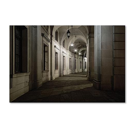 Trademark Fine Art Gregory O'Hanlon 'Ariel Rios Walkway-Night'  16 x 24 (GO0034-C1624GG)