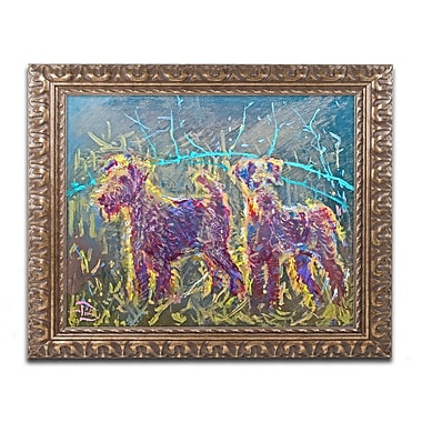 Trademark Global Lowell S.V. Devin '21st Century Fox Terriers' Ornate Framed Art, 16