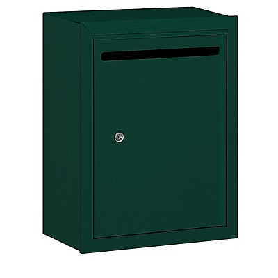 Salsbury Industries Aluminum 1 Unit Drop Box; Green
