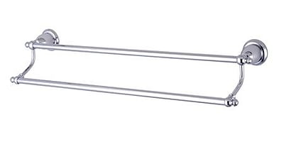 Elements of Design English Vintage Dual 24'' Wall Mounted Towel Bar; Chrome