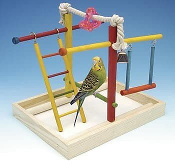 Penn Plax Medium Wooden Playground Bird Activity Center WYF078276455442