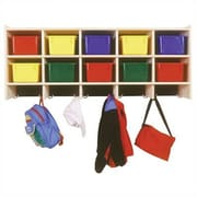 Steffy 10 Compartment Cubby; No Bins