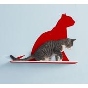 The Refined Feline Silhouette Gaze Cat Perch; Red