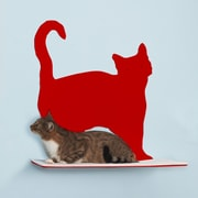 The Refined Feline Silhouette Prance Cat Perch; Red