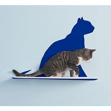 The Refined Feline Silhouette Gaze Cat Perch; Blue
