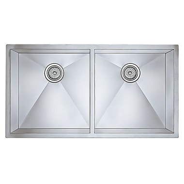 Blanco Precision 37'' x 18'' Large Equal Double Bowl Kitchen Sink