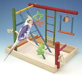 Penn Plax Large Wooden Playground Bird Activity Center WYF078276465438