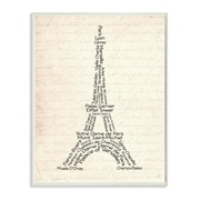 Stupell Industries Eiffel Tower Textual Art Wall Plaque