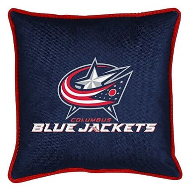 Sports Coverage NHL Columbus Blue Jackets Sidelines Throw Pillow