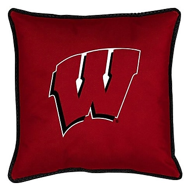 Sports Coverage NCAA Wisconsin Sidelines Throw Pillow