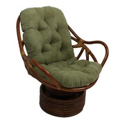 International Caravan Rattan Swivel Papasan Chair; Spice