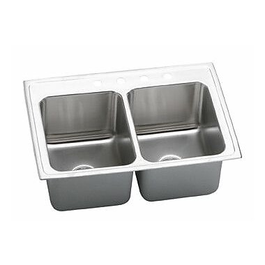 Elkay Gourmet 33'' x 22'' Top Mount Kitchen Sink; MR2 Hole