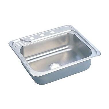 Elkay Gourmet 25'' x 22'' x 7.5'' Top Mount Kitchen Sink; MR2 Hole