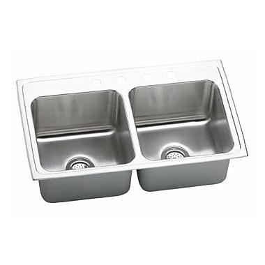 Elkay Gourmet 33'' x 19.5'' x 10.13'' Top Mount Kitchen Sink; 2 Hole