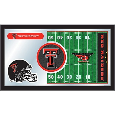 Holland Bar Stool NCAA Football Mirror Framed Graphic Art; Texas Tech