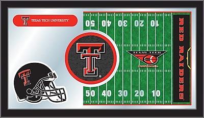 Holland Bar Stool NCAA Football Mirror Framed Graphic Art; Texas Tech