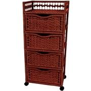 Oriental Furniture 4-Drawer Storage Chest; Mahogany