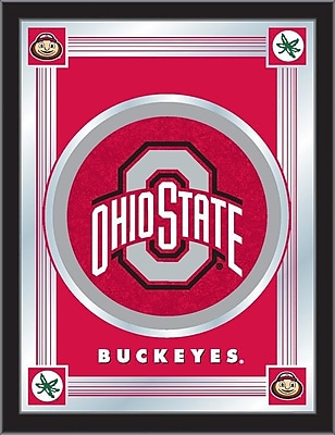 Holland Bar Stool NCAA Logo Mirror Framed Graphic Art; Ohio State