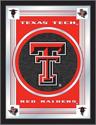 Holland Bar Stool NCAA Logo Mirror Framed Graphic Art; Texas Tech
