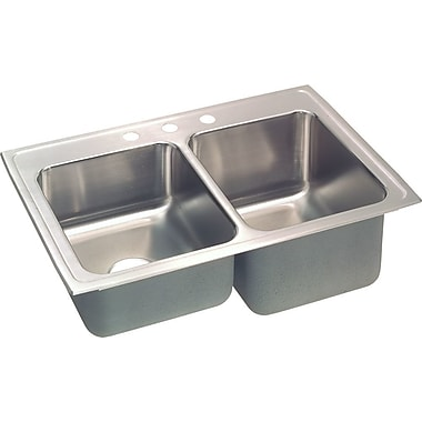 Elkay Gourmet 33'' x 22'' Kitchen Sink; 3 Holes