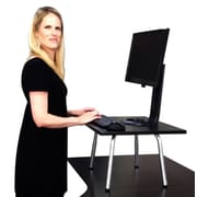 Stand Steady 15.25'' H x 24'' W Standing Desk Conversion Unit; Black