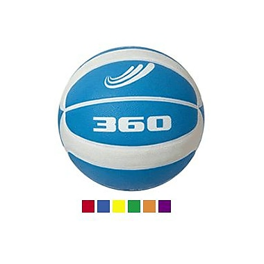 360 Athletics—Ballon de basketball en caoutchouc PGB7R, Taille 7, rouge, 5/paquet