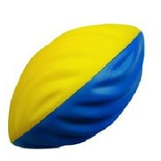 360 Athletics — Ballon de football FF9 en mousse, taille 7, jaune/bleu