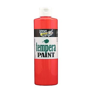 Handy Art 251-154 Tempera Paint Fluorescent, 16oz, Red, 12/Pack