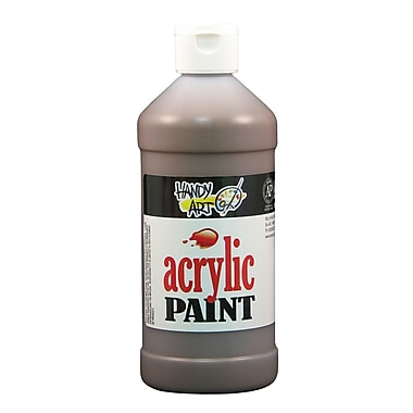 Handy Art 101-090 Acrylic Paint, 16oz, Brown, 12/Pack