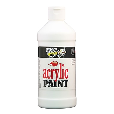 Handy Art 101-005 Acrylic Paint, 16oz, White, 12/Pack